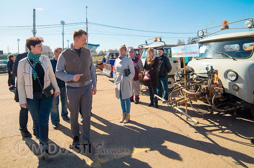 Парад коммунальной техники прошел в Домодедово | 14 апреля 2018 года