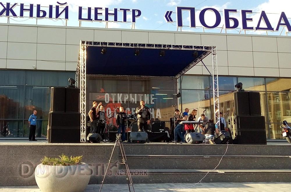 На главной площади Домодедово байкеры открыли сезон