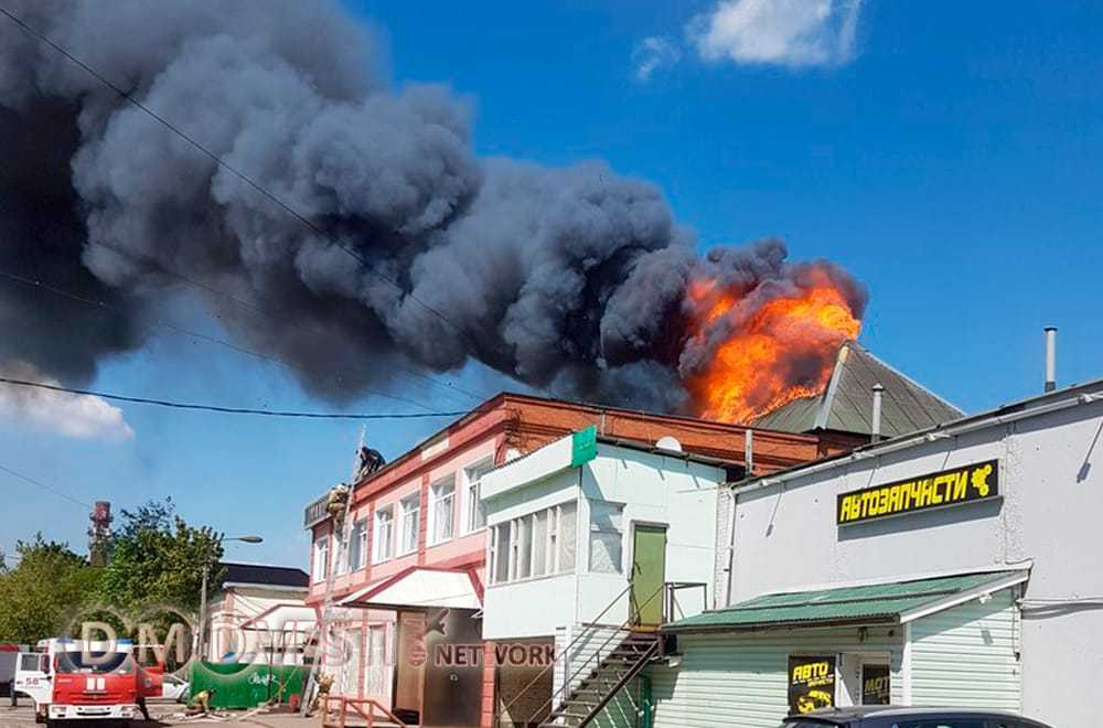 В Домодедово горел торговый центр