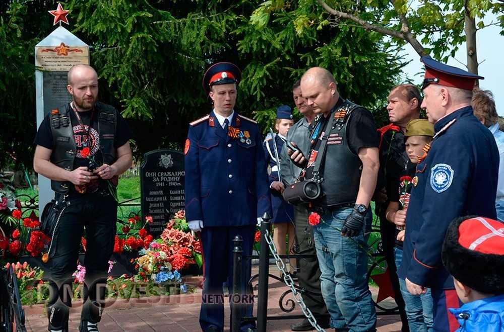 В Домодедово состоялся мотопробег в честь Дня Победы