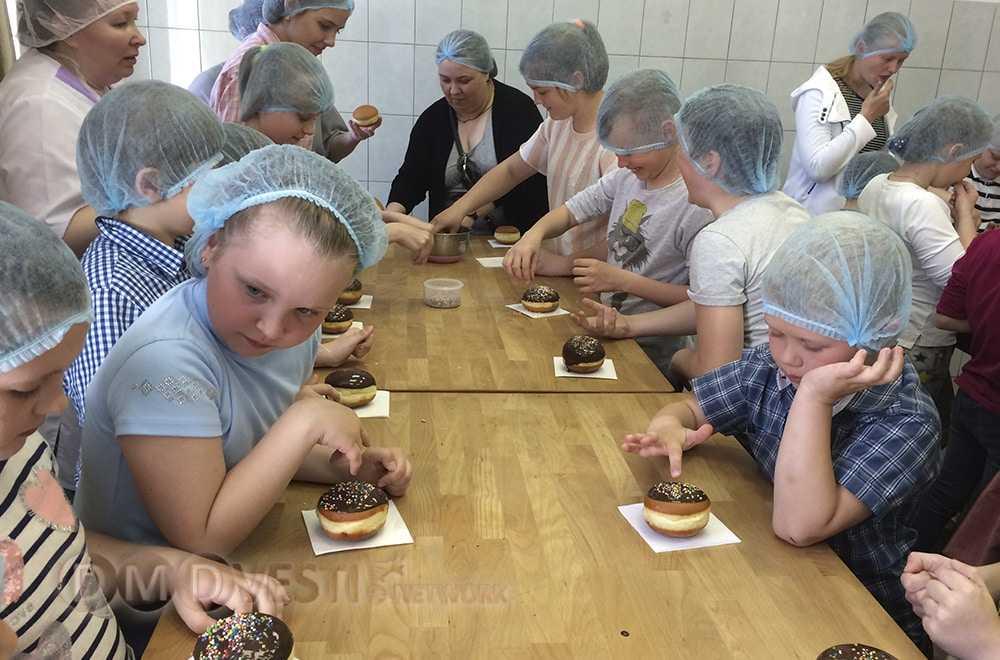 Вкусная экскурсия домодедовских школьников