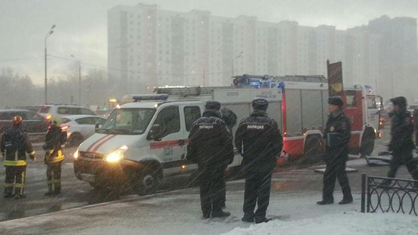 ДТП с участием рейсового автобуса Мострансавто в Москве
