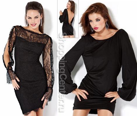 Короткие черные платья 2019, фото