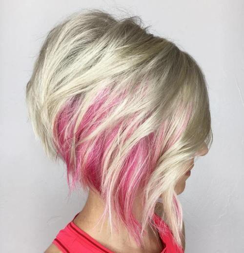 Модная тенденция - использование цветных прядей для волос
