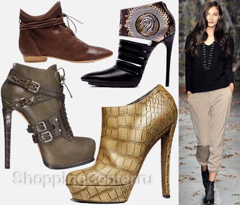 Модная обувь 2019. Модные женские ботильоны
