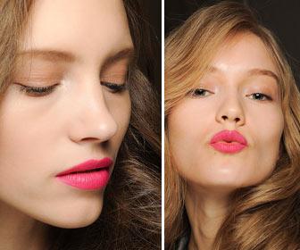 Розовый не выходит из моды. На фото макияж от Diane von Furstenberg