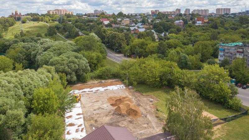 Строительство многофункциональной площадки в Домодедове