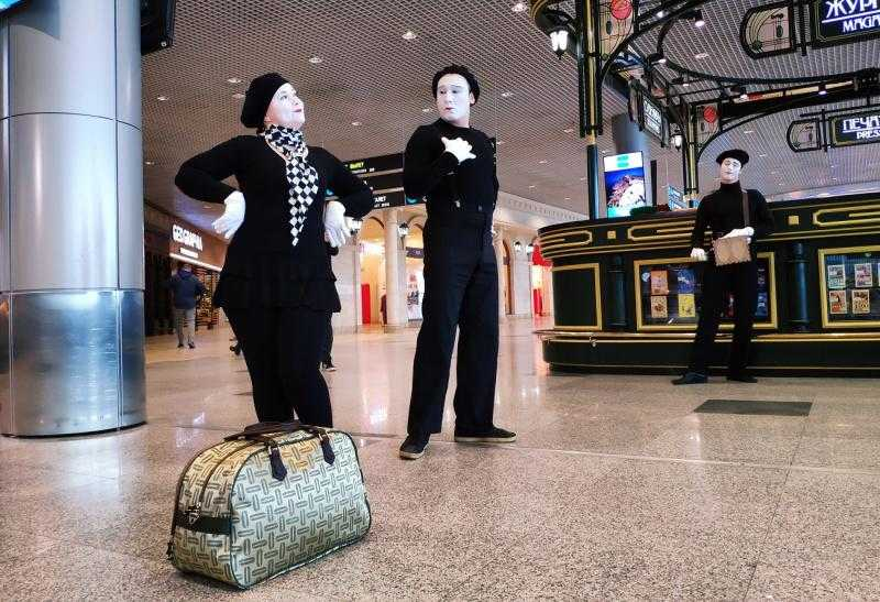 Аэропорт Домодедово превратился в театральную площадку