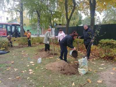 Подмосковные активисты ОНФ совместно с жителями деревни Захарково провели акцию «Навстречу юбилею Великой Победы»