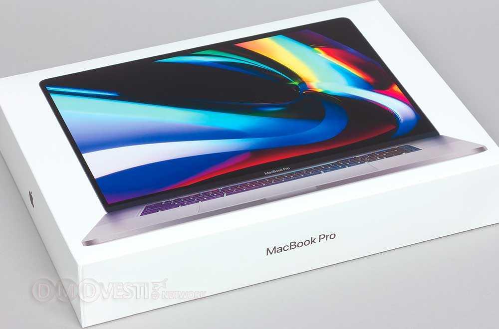 """Размер и вес упаковки MacBook Pro 16"""""""